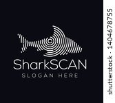 shark fish scan technology logo ...   Shutterstock .eps vector #1404678755