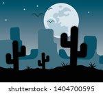 Grand Canyon At Night  Moon An...
