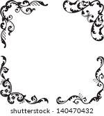 nice classical corner set is... | Shutterstock .eps vector #140470432