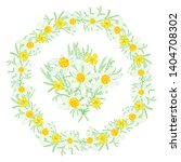 floral summer elements with... | Shutterstock .eps vector #1404708302
