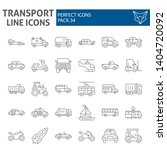 transport thin line icon set ... | Shutterstock .eps vector #1404720092