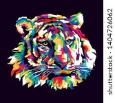 colorful tiger illustration ... | Shutterstock .eps vector #1404726062