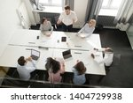 top view diverse workers and... | Shutterstock . vector #1404729938