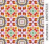 tibetan fabric. red  green ... | Shutterstock . vector #1404735215