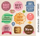 set of vector labels and...   Shutterstock .eps vector #140473885