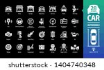 car icon set on a black... | Shutterstock .eps vector #1404740348