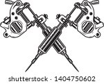 a tattoo machine on a white... | Shutterstock .eps vector #1404750602