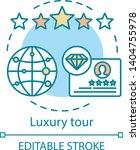 luxury tour concept icon.... | Shutterstock .eps vector #1404755978