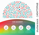 car accident concept in half... | Shutterstock .eps vector #1404759968