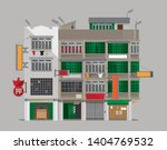 vector illustration of an old... | Shutterstock .eps vector #1404769532