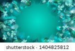 green mystery forest background ... | Shutterstock .eps vector #1404825812