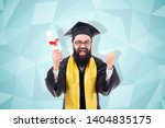 graduate with a diploma in hand ...   Shutterstock . vector #1404835175