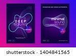 techno event. minimal show... | Shutterstock .eps vector #1404841565
