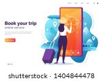 online booking service vector... | Shutterstock .eps vector #1404844478