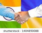 business handshake on the... | Shutterstock . vector #1404850088