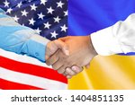 business handshake on the... | Shutterstock . vector #1404851135