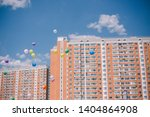 multi colored balloons against...   Shutterstock . vector #1404864908