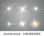 glow light effect. sun flash... | Shutterstock .eps vector #1404883085