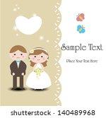 wedding invitation . romantic... | Shutterstock .eps vector #140489968