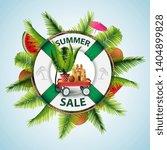 summer sale  modern discount... | Shutterstock .eps vector #1404899828
