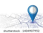 blue pin showing location on... | Shutterstock .eps vector #1404907952