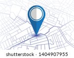 blue pin showing location on... | Shutterstock .eps vector #1404907955
