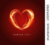 burning heart | Shutterstock .eps vector #140493985