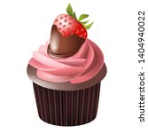 strawberry and chocolate... | Shutterstock . vector #1404940022