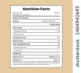 nutrition facts information... | Shutterstock .eps vector #1404942695