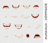 cartoon mouth emotions   joy ... | Shutterstock .eps vector #1404946028