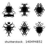 shields set   gothic style | Shutterstock .eps vector #140494852