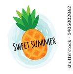 sweet summer pineapple vitamin...   Shutterstock .eps vector #1405002062