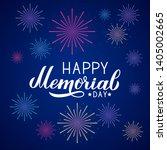 happy memorial day calligraphy... | Shutterstock .eps vector #1405002665