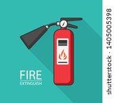 extinguish fire. vector... | Shutterstock .eps vector #1405005398
