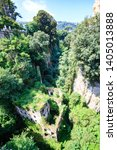 Small photo of Foliage has overgrown the ancient Mills Vallum in Sorrento, Italy
