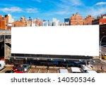 big blank billboard in new york ...   Shutterstock . vector #140505346