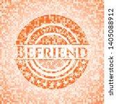 befriend orange mosaic emblem.... | Shutterstock .eps vector #1405088912