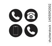 telephone icons set on white...
