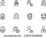 characters line icon set. face  ... | Shutterstock .eps vector #1405104848
