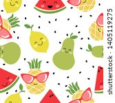 seamless pattern with kawai...   Shutterstock .eps vector #1405119275