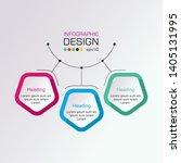 pentagons label infographic... | Shutterstock .eps vector #1405131995