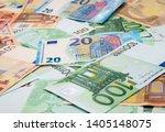 Euro Money Banknotes Backgroun...