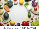 frame made with fresh ripe... | Shutterstock . vector #1405160978