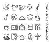 set of outline icons for... | Shutterstock .eps vector #1405164932