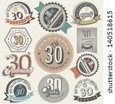 vintage style 30 anniversary... | Shutterstock .eps vector #140518615