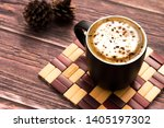 coffee cup table brown drink | Shutterstock . vector #1405197302
