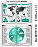 set of infographics elements.... | Shutterstock .eps vector #140519998