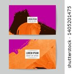set of vector business card... | Shutterstock .eps vector #1405201475