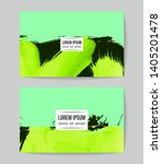 set of vector business card... | Shutterstock .eps vector #1405201478