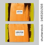 set of vector business card... | Shutterstock .eps vector #1405201505